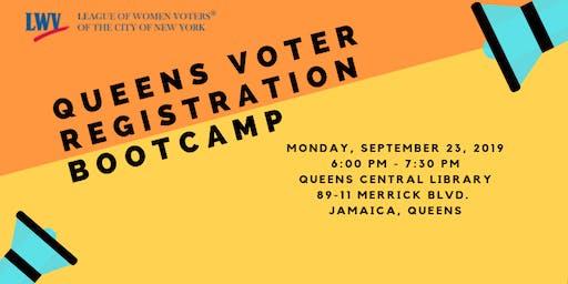 SEPT 23 Queens Voter Registration Boot Camp