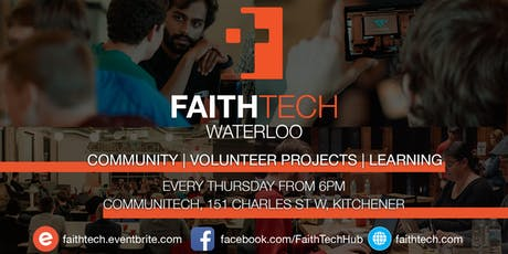 FaithTech Waterloo Weekly tickets