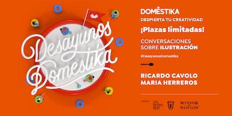 Desayunos Domestika: ilustración con Ricardo Cavolo & Maria Herreros entradas