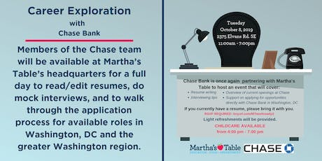 Career Exploration with Chase Bank tickets