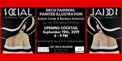 "Fall Exhibition Opening Cocktail - ""Deco Fashion: Painted Illustration """