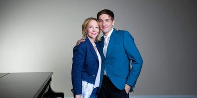 Oxana Mikhailoff and Vassily Primakov, one piano four hands program