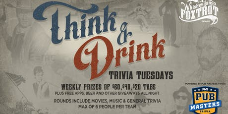 Pub Masters Trivia LIVE at Whiskey Tango Foxtrot-Denver! tickets