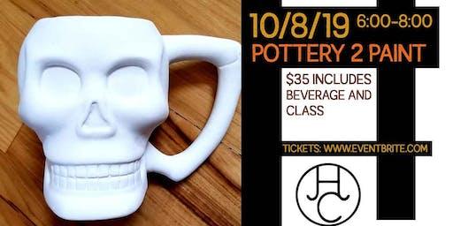 Paint a Skull Mug at Hay Camp