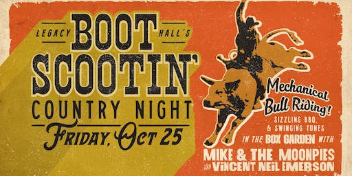 Boot Scootin' Country Night w/ Mike and The Moonpies