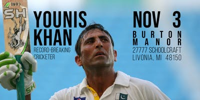 Younis Khan, Record-Breaking Cricketer - A Benefit Dinner for Charity (MI)