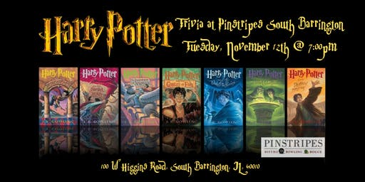 Harry Potter Books Trivia at Pinstripes South Barrington