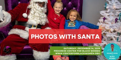Photos with Santa at the Progress Center for Black Women