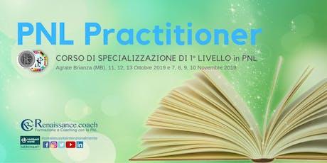 PNL Practitioner - Corso di specializzazione di 1° livello in PNL (7 giorni di corso) biglietti