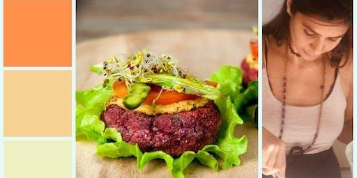 Taller de hamburguesas veganas y mayonesas vegetales. Gluten free y vegano.