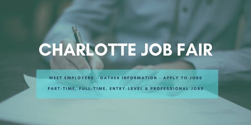 Charlotte Job Fair - October 7, 2019 Job Fairs & Hiring Events in Charlotte NC