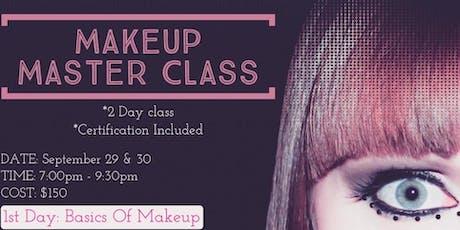 Master Makeup Class tickets