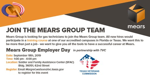 Mears Gas Technician Employer Showcase 1:00-2:00pm