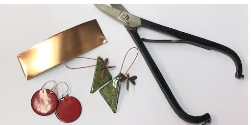 Copper Enamel Earring Class