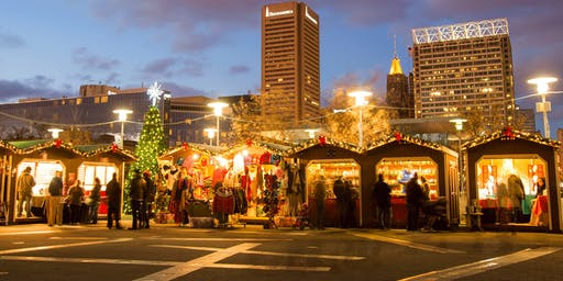 Baltimore Inner Harbor - 2019 Christmas Village - December 1, 2019
