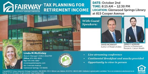 Tax Planning For Retirement Income