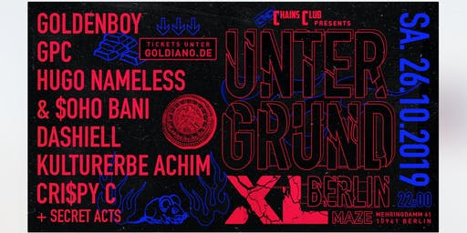 CHAINS CLUB x GOLDENBOY: GPC, Soho Bani & Hugo Nameless & Special Guests
