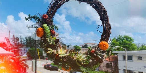 12' Succulent Wreath Workshop