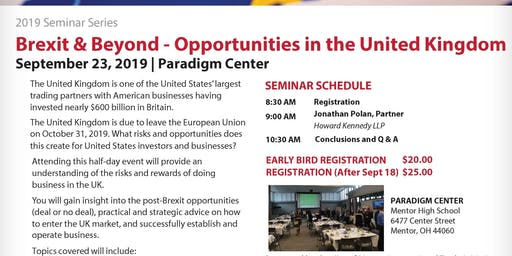 City of Mentor Presents:Brexit & Beyond-Opportunities in the United Kingdom