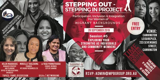 """""""Stepping Out - Stepping In"""" Project in Canning - Panel Event"""