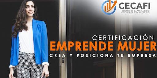 Certificación  Emprende Mujer