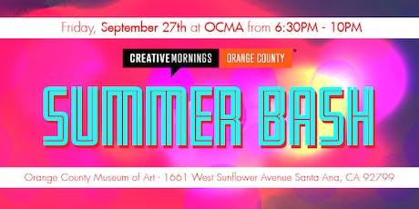 CreativeMornings OC's Summer Bash 2019 tickets