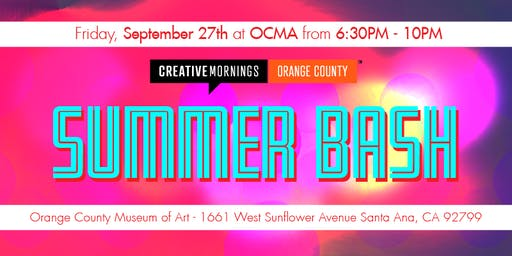 CreativeMornings OC's Summer Bash 2019