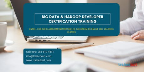 Big Data and Hadoop Developer Certification Training in  Yellowknife, NT tickets