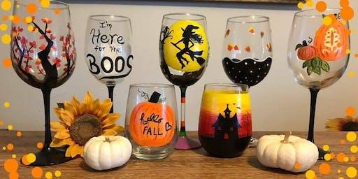Halloween Wine Glass Painting! 10/13/19