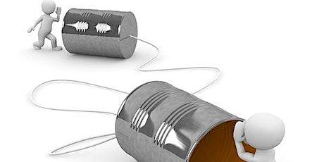 Communication breakthroughs – being heard and understood tickets