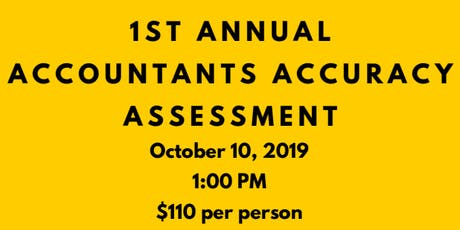 Grande Prairie Chapter of CPA's 1st Annual Accountants Accuracy Assessment tickets