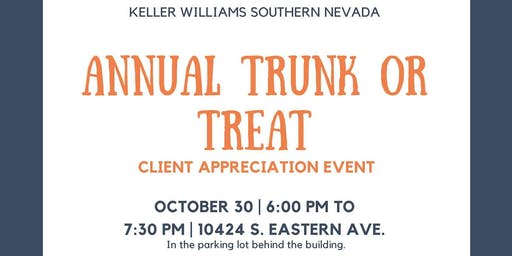 Trunk or Treat Client Appreciation Event