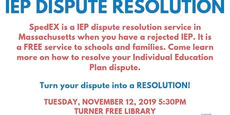 IEP Resolution tickets