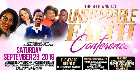 The 4th Annual Unstoppable Faith Conference 2019 tickets