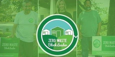 Zero Waste Block Leader Orientation tickets