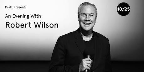 An Evening with Robert Wilson tickets