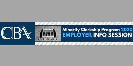 2020 Minority Clerkship Program Employer Info Session tickets