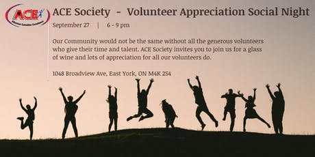 ACE Society Volunteer Appreciation Night tickets