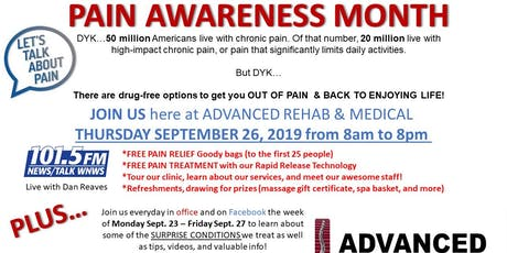 Pain Awareness Month tickets