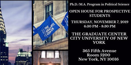 Fall 2019 Political Science Open House -  CUNY Graduate Center tickets