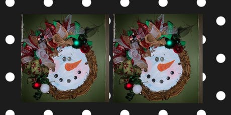 Snowman Wreath Making Class at Peachwave Frozen Yogurt tickets