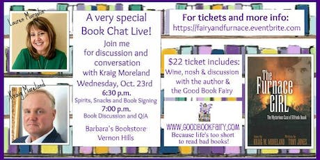 Special BOOK CHAT LIVE with the author, Kraig Moreland Oct. 23rd, 2019 tickets