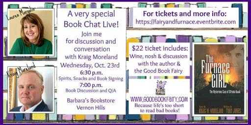 Special BOOK CHAT LIVE with the author, Kraig Moreland Oct. 23rd, 2019
