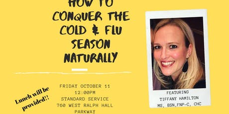 How To Conquer The Cold & Flu Season Naturally tickets