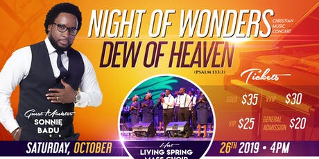 Night of Wonders Music Concert Feat. Sonnie Badu tickets