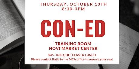 CON - ED tickets