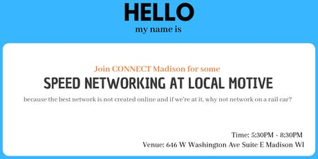 Speed Networking at Local Motive tickets