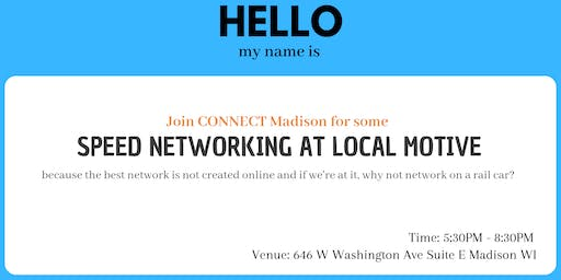 Speed Networking at Local Motive