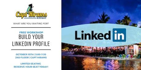 WORKSHOP: Build Your LinkedIN Profile tickets