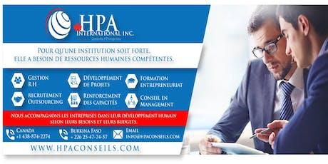 HPA Conseils - GRH - Lancement Officiel billets